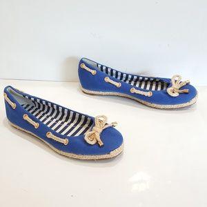 Kate Spade Shoes - Kate Spade Shoes Flats Blue Canvas Twine Nautical